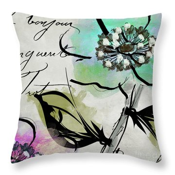 Dogwood I Throw Pillow