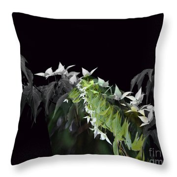 Dogwood Shades Of Grey Throw Pillow