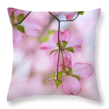 Dogwood Sunset Throw Pillow by Rima Biswas