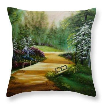 Dogwoods In Springtime Throw Pillow