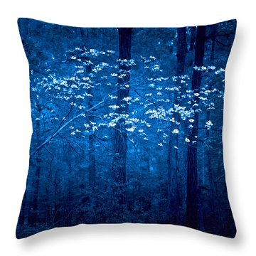 Throw Pillow featuring the photograph Dogwoods Of Texas by Linda Unger