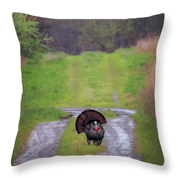 Doing The Turkey Strut Throw Pillow