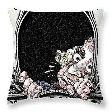 Dollar Fear Throw Pillow