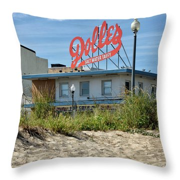 Throw Pillow featuring the photograph Dolles From The Beach - Rehoboth Beach Delaware by Brendan Reals
