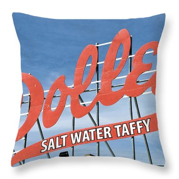 Throw Pillow featuring the photograph Dolles Salt Water Taffy - Rehoboth Beach  Delaware by Brendan Reals