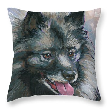 Dollie Throw Pillow by Nadi Spencer