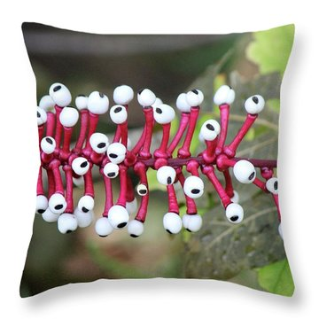 Dolls Eyes Throw Pillow