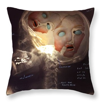 Dolls On The Brain Throw Pillow