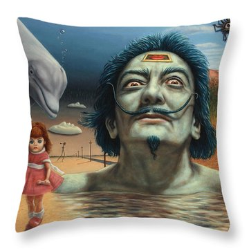Dolly In Dali-land Throw Pillow