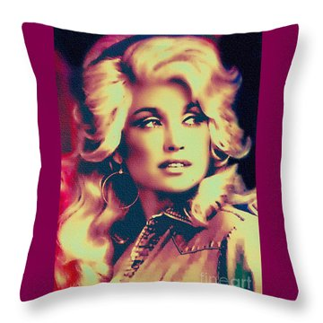 Dolly Parton - Vintage Painting Throw Pillow