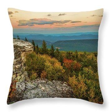 Dolly Sods Autumn Sundown Throw Pillow
