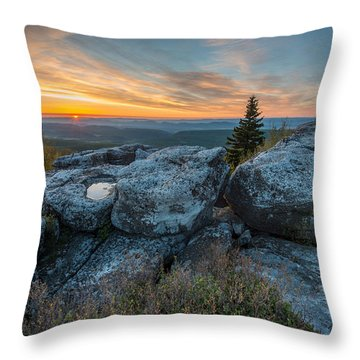 Monongahela National Forest Dolly Sods Wilderness Sunrise Throw Pillow