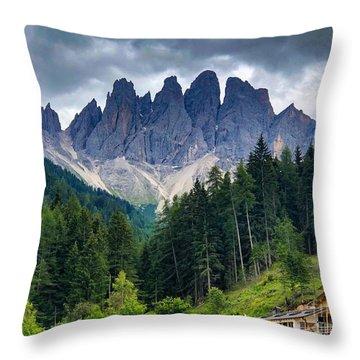 Dolomite Drama Throw Pillow
