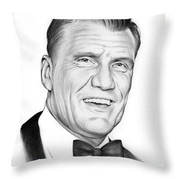 Dolph Lundgren Throw Pillow