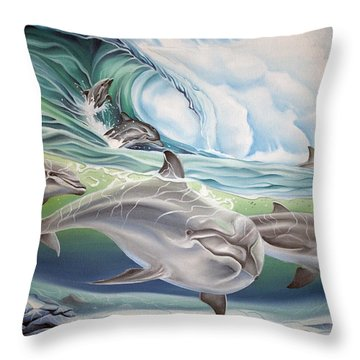 Dolphin 2 Throw Pillow