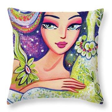 Dolphin Mermaid Throw Pillow