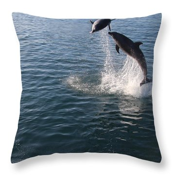 Dolphin Watch Throw Pillow