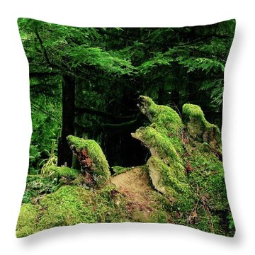 Dolphins Of The Forrest Throw Pillow