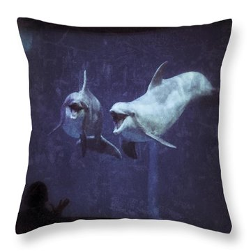 Dolphinspiration Throw Pillow