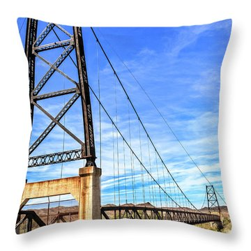 Throw Pillow featuring the photograph Dome Bridge by Robert Bales