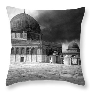 Dome Of The Rock - Jerusalem Throw Pillow by Munir Alawi