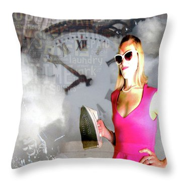 Domestic Considerations Drama Throw Pillow by Ann Tracy