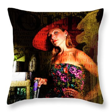 Domestic Considerations O Yeah? Throw Pillow by Ann Tracy