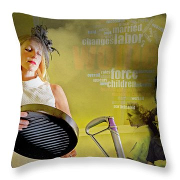 Domestic Considerations Same Old Throw Pillow by Ann Tracy