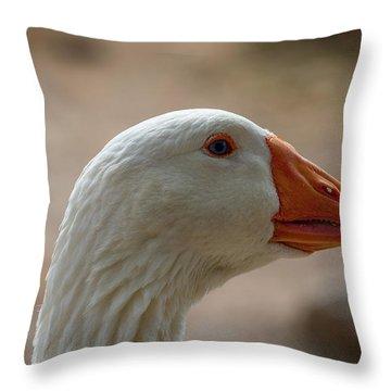 Domestic Goose Throw Pillow