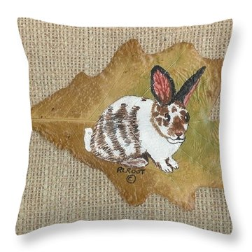 domestic Rabbit Throw Pillow