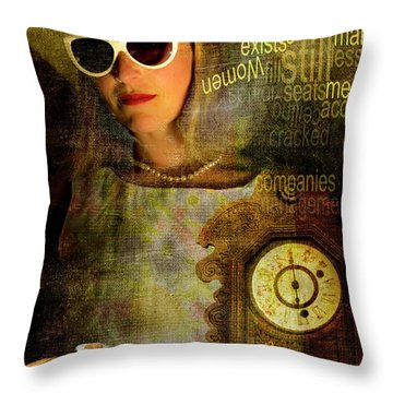 Domesticf Considerations Glass Ceiling Throw Pillow by Ann Tracy