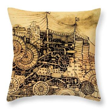 Dominance Throw Pillow by Anna Deligianni