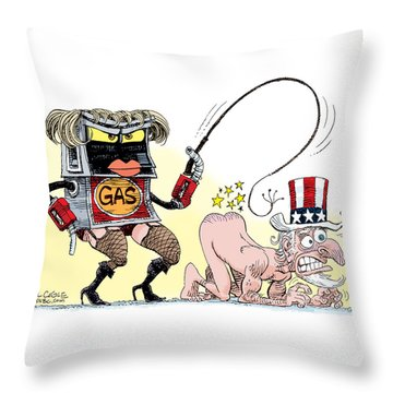 Dominating Gas Prices Throw Pillow