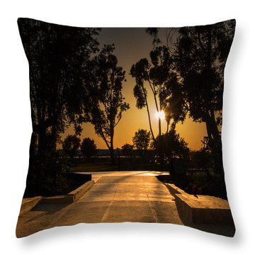 Dominguez Hills Sunset Throw Pillow