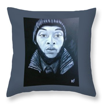Dominic Throw Pillow by Jenny Pickens