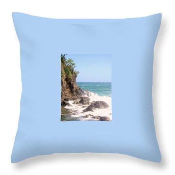 Throw Pillow featuring the photograph Dominica North Atlantic Coast by Ian  MacDonald