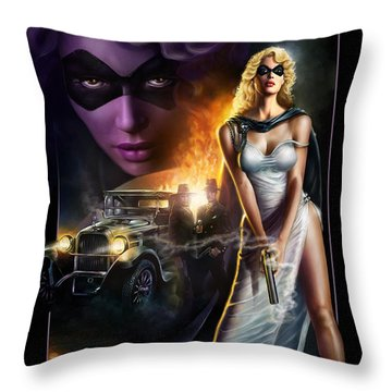Domino Lady Throw Pillow