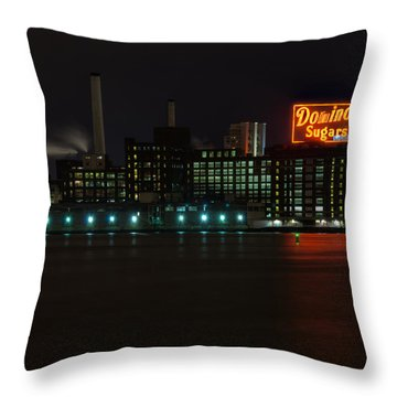 Domino Sugars Wide Throw Pillow