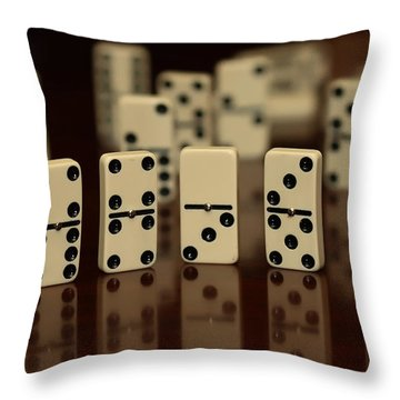 Dominos Throw Pillow