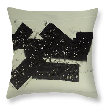 Throw Pillow featuring the mixed media Dominos by Erika Chamberlin