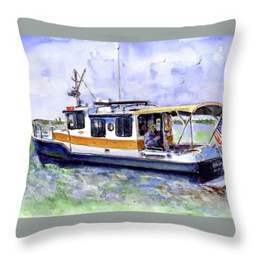 Don And Kathys Boat Throw Pillow