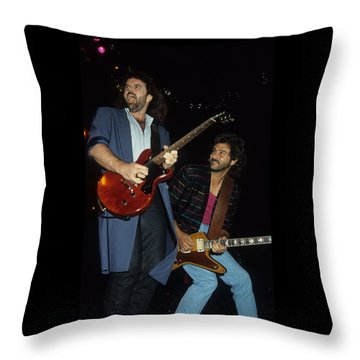 Don Barnes And Jeff Carlisi Of 38 Special Throw Pillow