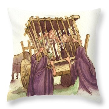 Don Quixote Caged Throw Pillow