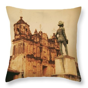 Throw Pillow featuring the photograph Don Quixote  by Charles McKelroy