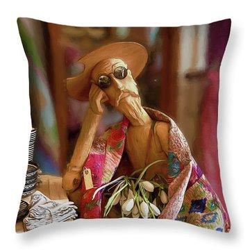 Don Quixote De La Mancha Throw Pillow