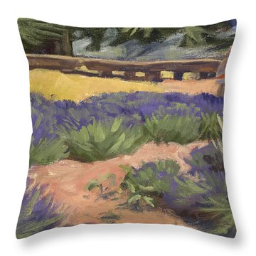 Don Read Painting Lavender Throw Pillow by Jane Thorpe