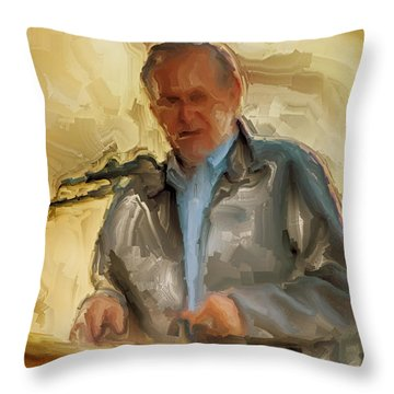 Donald Rumsfeld Throw Pillow by Brian Reaves