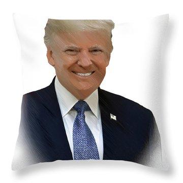 Donald Trump - Dwp0080231 Throw Pillow