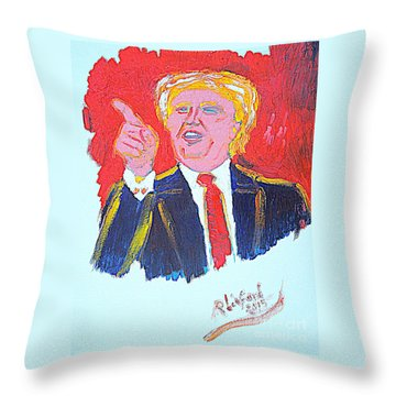 Donald Trump You Are Great America Is Great  Throw Pillow