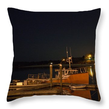 Throw Pillow featuring the photograph Done Fishing by Greg DeBeck